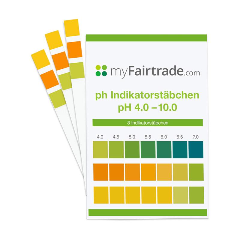 pH Teststreifen mit Farbtabelle